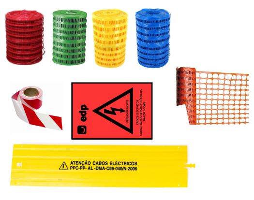 Network and Signaling Tape for Cables, Underground Conduits, Buried Cables, Works, Tombs, PPC Plates