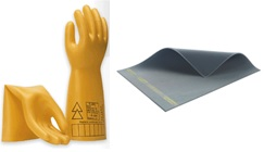 PT equipment, gloves class 00 to class 4, insulating mats up to 50kV, insulating platforms, LED flashlights, etc.